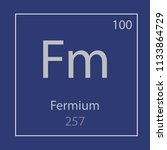 fermium fm chemical element... | Shutterstock .eps vector #1133864729