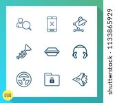 modern  simple vector icon set... | Shutterstock .eps vector #1133865929