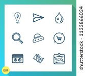 modern  simple vector icon set... | Shutterstock .eps vector #1133866034