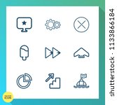 modern  simple vector icon set... | Shutterstock .eps vector #1133866184