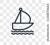 sailboat vector icon isolated... | Shutterstock .eps vector #1133876663