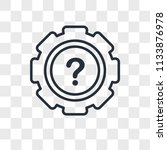 settings vector icon isolated... | Shutterstock .eps vector #1133876978