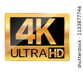 4k ultra hd resolution icon for ... | Shutterstock .eps vector #1133877746