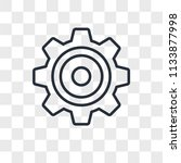 settings vector icon isolated... | Shutterstock .eps vector #1133877998