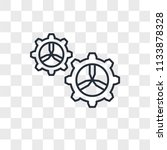 settings vector icon isolated... | Shutterstock .eps vector #1133878328