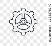 settings vector icon isolated... | Shutterstock .eps vector #1133878340