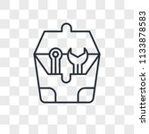 toolbox vector icon isolated on ... | Shutterstock .eps vector #1133878583