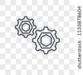 settings vector icon isolated... | Shutterstock .eps vector #1133878604