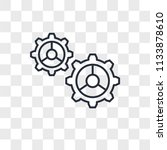 settings vector icon isolated... | Shutterstock .eps vector #1133878610