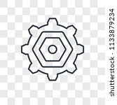 settings vector icon isolated... | Shutterstock .eps vector #1133879234