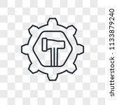 settings vector icon isolated... | Shutterstock .eps vector #1133879240