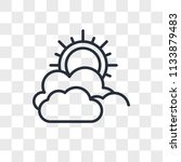cloudy vector icon isolated on... | Shutterstock .eps vector #1133879483
