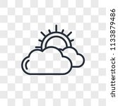 cloudy vector icon isolated on... | Shutterstock .eps vector #1133879486