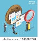 flat isometric vector concept... | Shutterstock .eps vector #1133880770