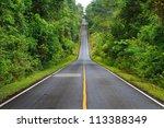 Forest Road At Khaoyai Nationa...