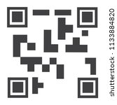 raster illustration qr code... | Shutterstock . vector #1133884820