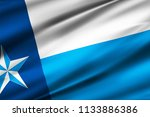 dallas 3d waving flag... | Shutterstock . vector #1133886386