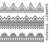 set of seamless borders for... | Shutterstock .eps vector #1133888933
