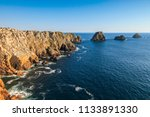 pointe de pen hir and les tas... | Shutterstock . vector #1133891330