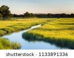 river through marsh field | Shutterstock . vector #1133891336