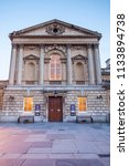 the facade of the roman baths... | Shutterstock . vector #1133894738