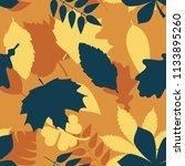 seamless orange and blue tree... | Shutterstock .eps vector #1133895260