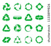 arrows recycling icons.... | Shutterstock .eps vector #1133899826