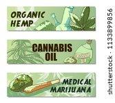 Marijuana Banner Set. Organic...