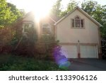 unfinished abandoned model home ...   Shutterstock . vector #1133906126