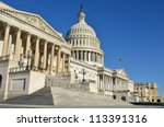 united states capitol building... | Shutterstock . vector #113391316
