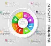 infographic design template... | Shutterstock .eps vector #1133914160