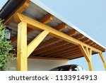 high quality wooden carport | Shutterstock . vector #1133914913