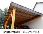 high quality wooden carport | Shutterstock . vector #1133914916