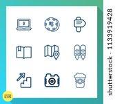 modern  simple vector icon set... | Shutterstock .eps vector #1133919428