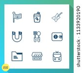 modern  simple vector icon set... | Shutterstock .eps vector #1133920190