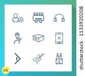 modern  simple vector icon set... | Shutterstock .eps vector #1133920208