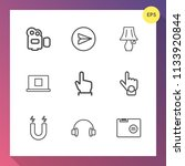 modern  simple vector icon set... | Shutterstock .eps vector #1133920844