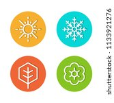 annual of four season icon flat ... | Shutterstock .eps vector #1133921276