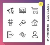 modern  simple vector icon set... | Shutterstock .eps vector #1133922389