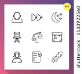 modern  simple vector icon set... | Shutterstock .eps vector #1133922560