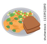 a healthy weight watcher diet... | Shutterstock .eps vector #1133922893