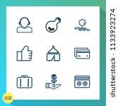 modern  simple vector icon set... | Shutterstock .eps vector #1133923274