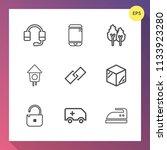 modern  simple vector icon set...   Shutterstock .eps vector #1133923280