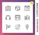 modern  simple vector icon set... | Shutterstock .eps vector #1133923388