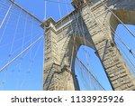 closeup of brooklyn bridge over ... | Shutterstock . vector #1133925926