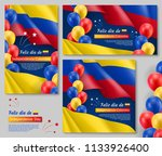 happy colombian independence... | Shutterstock .eps vector #1133926400