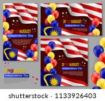 happy malaysian independence... | Shutterstock .eps vector #1133926403