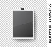 realistic blank photo frame... | Shutterstock .eps vector #1133926460