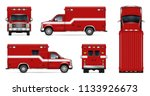 Fire Truck Vector Mockup On...