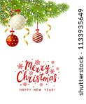 christmas greeting card with... | Shutterstock .eps vector #1133935649